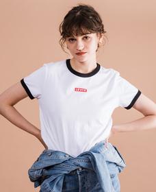 リンガーロゴTシャツ BABY TAB RINGER WHITE