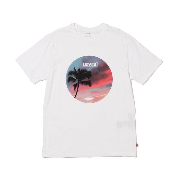 グラフィッククルーネックTシャツ BI PHOTO TEE WHITE
