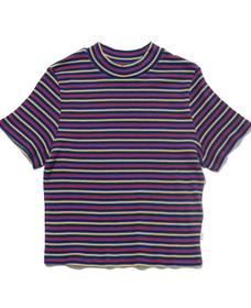 リブTシャツ MONDAY MONDAY MULTI COLOR