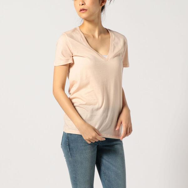 VネックTシャツ/NUDE