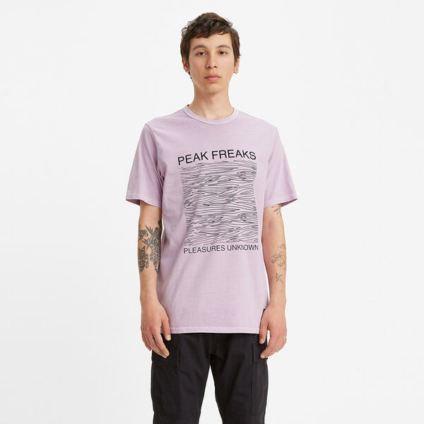 SKATE グラフィックTシャツ LSC LAVENDER Pleasures Black