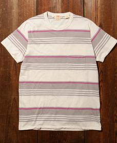 LEVI'S® VINTAGE CLOTHING 1960'S カジュアルストライプTシャツ GREY MULTI