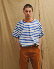 LR VINTAGE Tシャツ BLANKET STRIPE STAR Sapphire