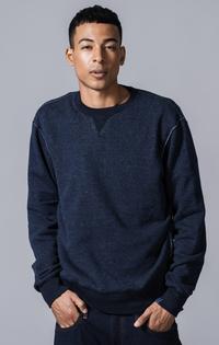 【予約商品】クルーネックスウェットシャツ LOOPWHEELER® INDIGO