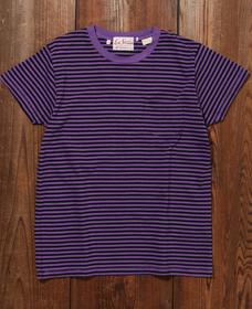 1950'S SPORTSWEAR Tシャツ PURPLE STRIPE TONAL
