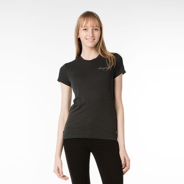 スリムフィットTシャツ/JETBLACKWASH
