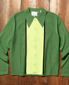 Knit Shirt GREENS MULTI STRIPE