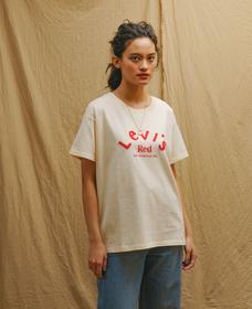 LR SS BOYFRIEND Tシャツ LEVI'S RED LOGO TEE