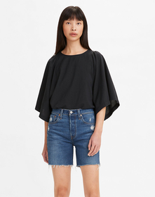 LUCY WING TOP CAVIAR
