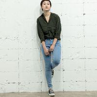 エンパイアスキニー/ミディアムインディゴ/PEBBLEBLUE/11.3oz