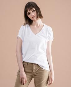 DAD VネックTシャツ WHITE +