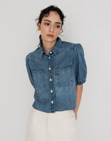 ALICE SS DENIM BLOUSE SILVER LINING 3