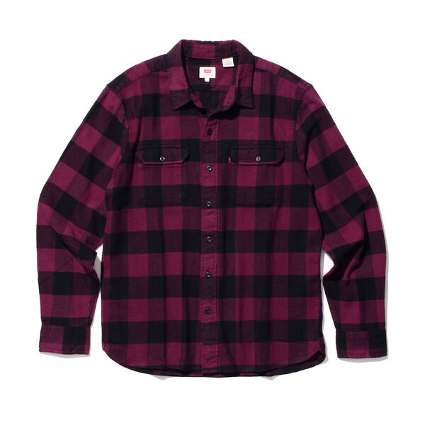クラシックワーカーシャツ チェック PURPLE