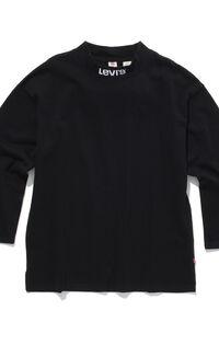 モックネックシャツ BLACK