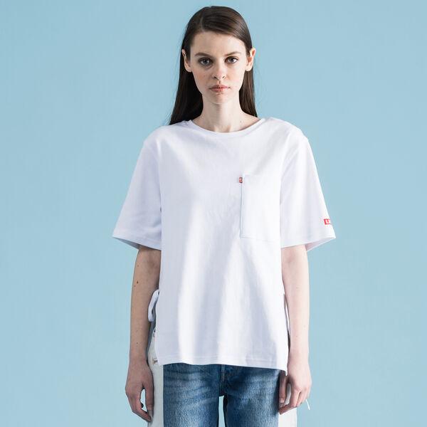 レースアップTシャツ TOTAL WHITE
