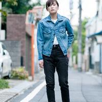 TYPEⅢボーイフレンドトラッカージャケット/ブルー/HURRICAN/14.56oz