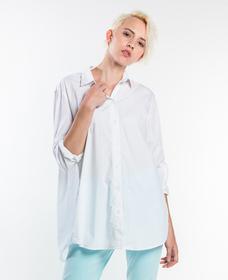 オーバーサイズオープンバックシャツ-BRIGHTWHITE