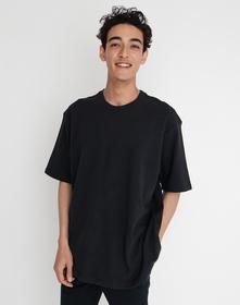 OVERSIZED PIQUE Tシャツ CAVIAR