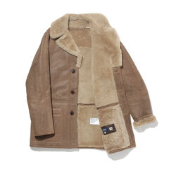 Levi's Made & Crafted Shearling Ranch Coat 55946: 0000 Bone Brown