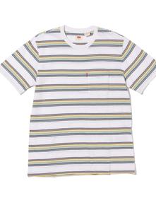 SUNSET ポケットTシャツ WHITE BODY + GREY