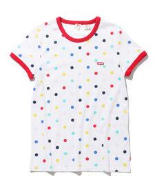 ドット柄Tシャツ