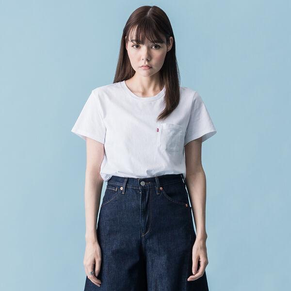 ポケットTシャツ WHITE