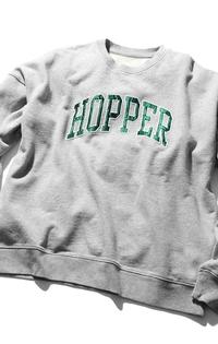 HOPPERS クルーネックスウェット HEATHER GREY GRAPHIC