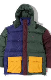 STAY LOOSE FILMORE PARKA MULTI COLOR BLOCK