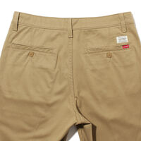 STRAIGHT SHORTS HARVEST GOLD STR POLY TWILL W PRESS