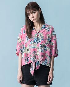 クローバーシャツ ROMANTIC FLORAL SACHET PINK