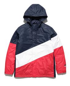 カラーブロックアノラック NAVY / WHITE / RED
