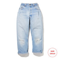 PLEATED PANT AV BLUE
