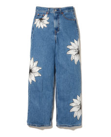FARM HIGH LOOSE JEAN TROPICAL FLOWER