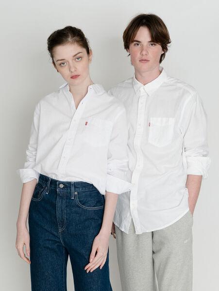SUNSET 1ポケットシャツ STANDARD WHITE