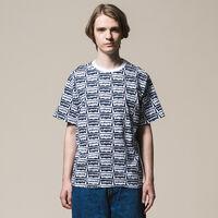 リラックスグラフィックTシャツ OVERSIZED HM DRESS BLUES