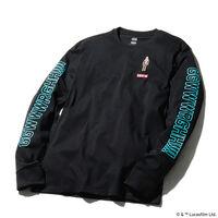 グラフィックロングスリーブTシャツ CHEWBACCA BLACK