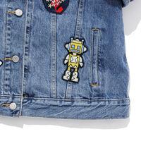 パッチワーク刺繍トラッカージャケット