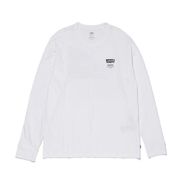 リラックス グラフィック ロングスリーブTシャツ WHITE