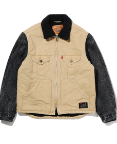 JT HYBRID トラッカージャケット CORD CANVAS HYBRID SHERPA TRUCKER