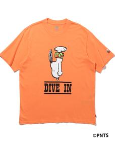 オーバーサイズグラフィックTシャツ Diving Snoopy Nectarine
