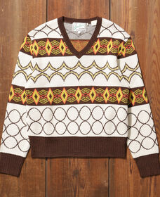 1940S Vネックセーター SPACE KNIT YELL