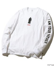 グラフィックロングスリーブTシャツ VADER BLACKWHITE