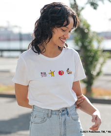 WOMEN'S POKEMON TEE MINI POKEMON WHITE +