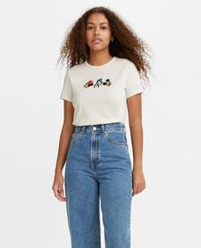 DISNEY S/S Tシャツ MARSHMALLOW W/ RIBTRIM