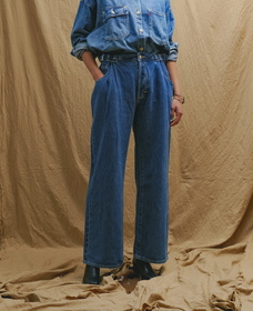 LR LOW LOOSE WORK PANT NEW YEAR BLUE