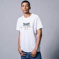グラフィックTシャツ 90S LOGO TEXT 2H WHITE