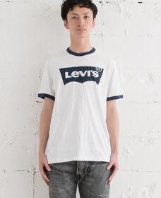 バットウィングロゴTシャツ-RINGERWHITE