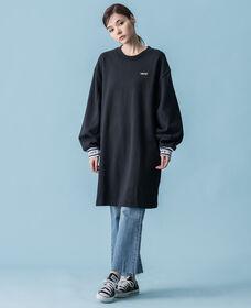 スウェットシャツドレス MINERAL BLACK