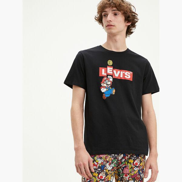 グラフィッククルーネックTシャツ MARIO BOXTAB BING MINERAL BLACK