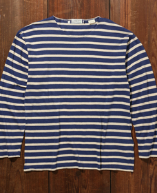 BAY MEADOWS ロングスリーブTシャツ BLUE CREAM